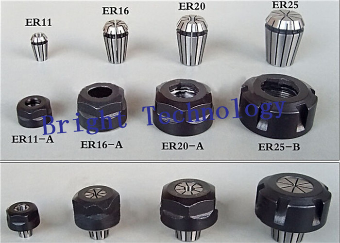 high quality 3 pcs er11 collets 1 8 3 175mm and 3pcs er11A Nut