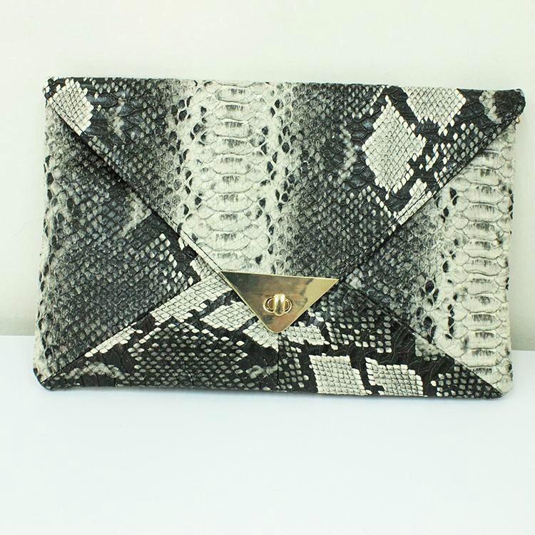 Women Messenger Bags New Arrival Zipper Animal Prints PU Shoulder Bags Serpentine Embossed Messenger Bags for
