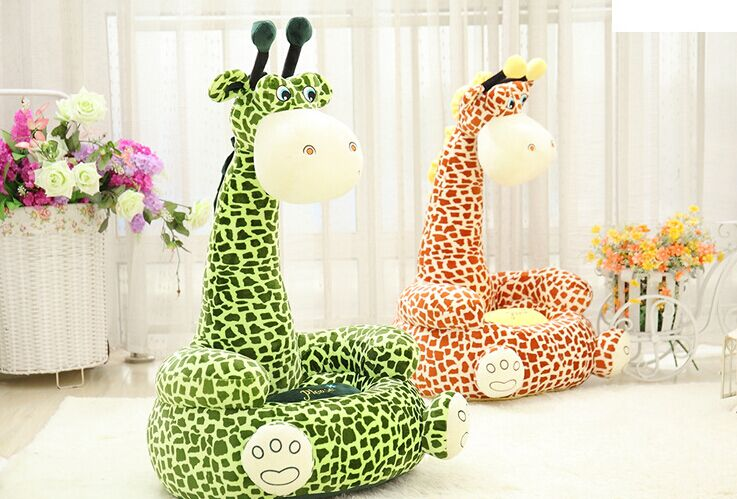 цены free shipping lovely cartoon giraffe design 70x42cm sofa tatami plush toy floor seat cushion gift w5578