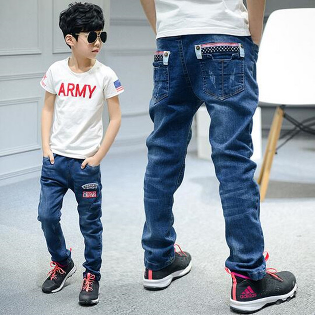 Children's clothing male children's jeans pants in the spring and autumn cuhk children slacks spring cowboy pants