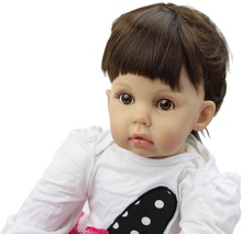 29Inch Silicone Reborn Babies Realistic Newborn Baby Doll Lifesize Doll Baby Real Baby Girl toys Christmas Gift