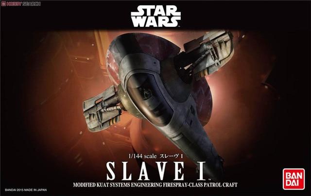 2015 New Genuine Bandai 1:144 Scale Star Wars Slave I firespray-class patrol craft Plastic Model Building Kits DIY Toys