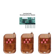 Wireless Wide Voltage Coding Transmitter Decoding Receiver 4 Channel Output Module for 433Mhz Remote Control KT02-4x3+RX480E-4