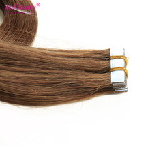Ali Beauty Wholesale Virgin Tape Hair Extensions Straight Brazilian Hair Extension Tape In Extensions 20pcs/lot Hair Extension