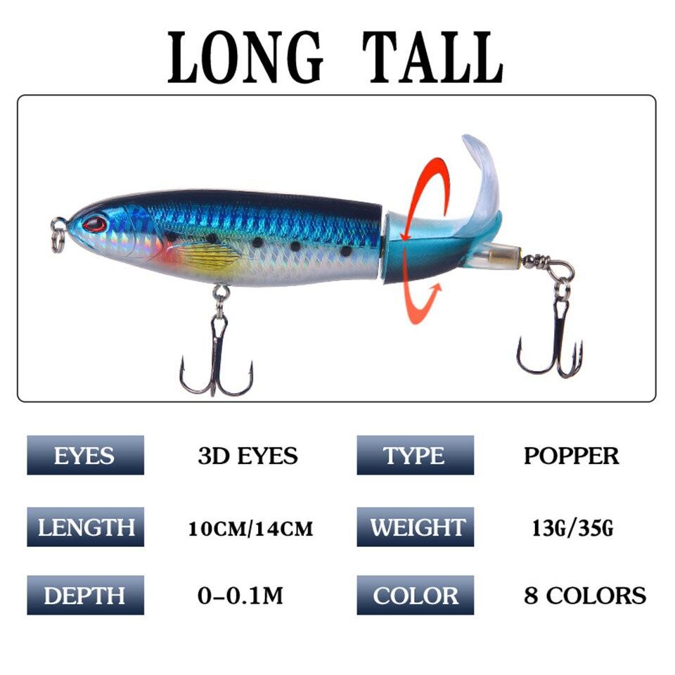 Leurre de Surface Whopper Popper 10cm/14cm, 16/35 g, 10 couleurs