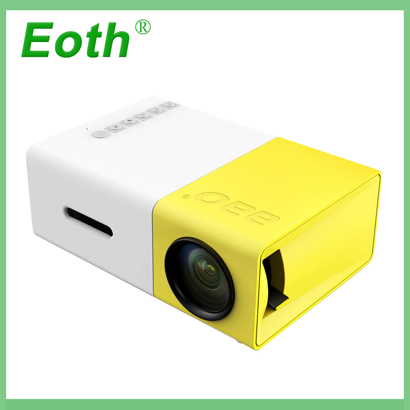 YG300 Mini Portable Projector LCD Proyector HDMI USB AV SD 400-600 Lumen Theater Children Education Beamer Home Media Player unic uc40 mini portable projector hdmi home theater beamer multimedia proyector usb av sd hdmi ir video projector
