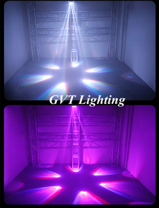Image 5 - 4 pçs/lote LED Mini Abelha Olho Levou Movendo a Cabeça Feixe de Luz Efeito 6x15W dj discoteca DMX512 4IN1 RGBW CONDUZIU a Lâmpada 10/15CH