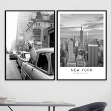 Car Alpaca New York Vintage City Nordic Posters And Prints Wall Art Canvas Painting Pictures For Living Room Pop Decor