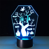 3D Night Lights 7 Color Changing USB Optical Illusion Home Decor LED Table Lamp Novelty Lighting