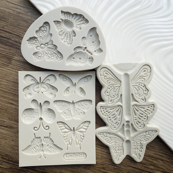 Przy Silicone Mold Fondant Molds Butterfly Series Cake Decorating Tools Handmade Resin Mould Rubber Eco-friendly