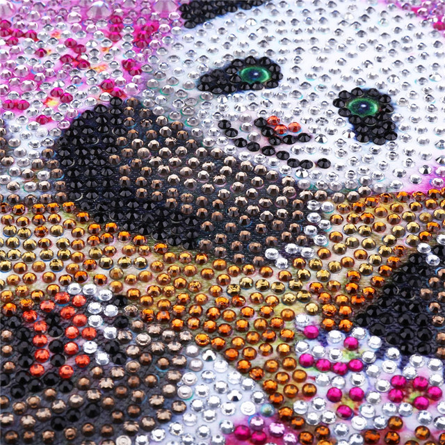 refinement Animal Panda 5D DIY Diamond Painting Full Round Diamond embroidery Cross stitch Diamond crystal Wall