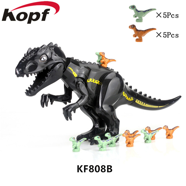 Series Jurassic World Bricks Brown Baby Blue Volociraptor Baby T Rex