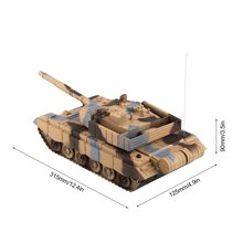OCDAY 1:20 4CH RC Tank On The Radio Remote Control Military Vehicle Armored Battle Tanks Turret Rotation Light & Music RC Toys