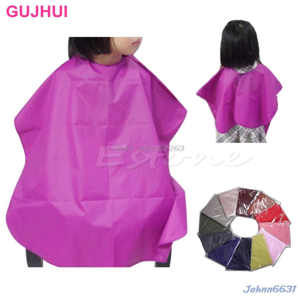 Children Waterproof Pro Salon Barber Gown Cape Hairdressing Hair Cutting Cloth -Y207 Drop Shipping