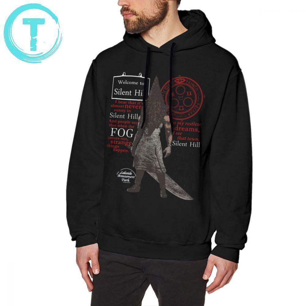 Silent Hill Hoodie Silent Hill Hoodies Winter Cool Pullover Hoodie Streetwear Mens Over Size Long Sleeve Black Cotton Hoodies
