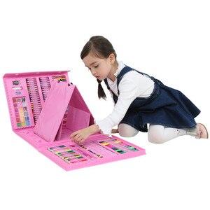 Image 5 - Набор цветных карандашей 176 шт., набор для рисования, набор для рисования, маркер, ручка, кисточки, набор инструментов для рисования, товары для детского сада