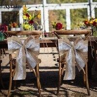 Aytai 1pc Lace Burlap Chair Bow Chair Sash 275x15cm Tie Bowknot Wedding Chair Decorations DIY Crafts
