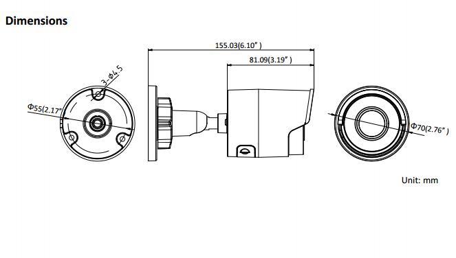 Free Shipping HIKVISION DS-2CD2085FWD-I H.265 8MP 4K IR Network Bullet Camera CCTV Waterproof IP Camera