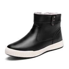 FABRECANDY Hot Mới Nhất Giữ Nam Ấm Áp Mùa Đông Khởi Động Chất Lượng Cao pu Leather Khởi Động Bình Thường Làm Việc Fahsion giày người đàn ông giày Cộng Với kích thước