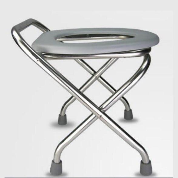 LM1155 hauteur déployante en acier inoxydable antidérapant femme enceinte Mobile petit pot Les personnes âgées Commode chaise Sit tabouret dans Chaises de plage de Meubles