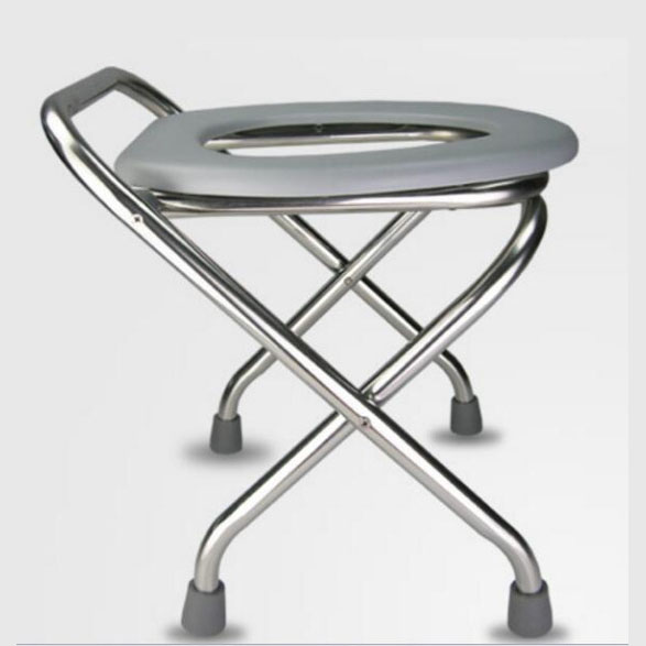 LM1155 height stainless steel folding skidproof pregnant woman Mobile potty chair The aged Commode chair Sit stool solid wood folding pregnant woman bathroom chairs sit stool potty chair older commode chair