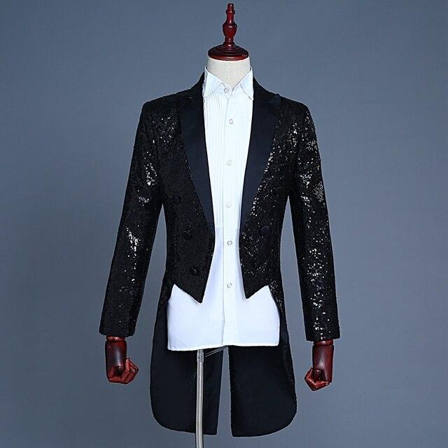 Jacke pailletten schwarz
