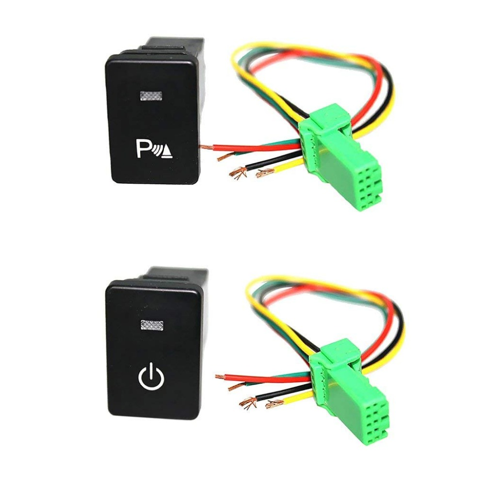 Push Button Switch White LED Parking Light & Headlight with Harnesses For <font><b>Toyota</b></font> <font><b>4Runner</b></font> 2010-On image
