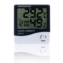 WHDZ HTC-1 Indoor Temperature Humidity Meter Room LCD Electronic Digital Thermometer Hygrometer Weather Station Alarm Clock
