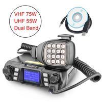 dual band vhf uhf Ham נייד רדיו משדר VHF UHF Mobile Radio Dual Band Quad המתנה משדר רכב עם תכנות Cable & Software (1)