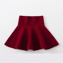 Girls ' Skirts Ruched New Spring Kids Clothing Girls' Skirts clothing Autumn Princess Children's Pleasant Skirts Wine Red цены