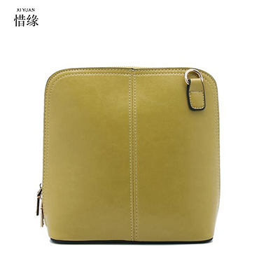 XIYUAN BRAND2017 women New Genuine Leather Cowhide feMale shoulder Bag girls messenger crossbody hand bags ladies handbags green