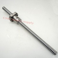 Free Shipping SFU2005 L500mm Rolled Ball Screw C7 With 2005 Flange Single Ball Nut For CNC