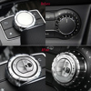 Stainless Steel Car Air Conditioning Multimedia Knob Decorative 3D Stickers For Mercedes Benz A B CLA