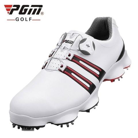 Sapatos de Golfe Homem à Prova Homem Automático Knob Dwaterproof Água Tênis Wearable Anti-skid Cravado Atlético Treinamento Esporte Sapatos D0471