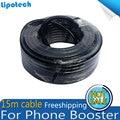 Freeshipping 15 m Metros de Cable Coaxial N Macho A Macho Para El Teléfono Móvil amplificador de Señal Del Repetidor Del Amplificador