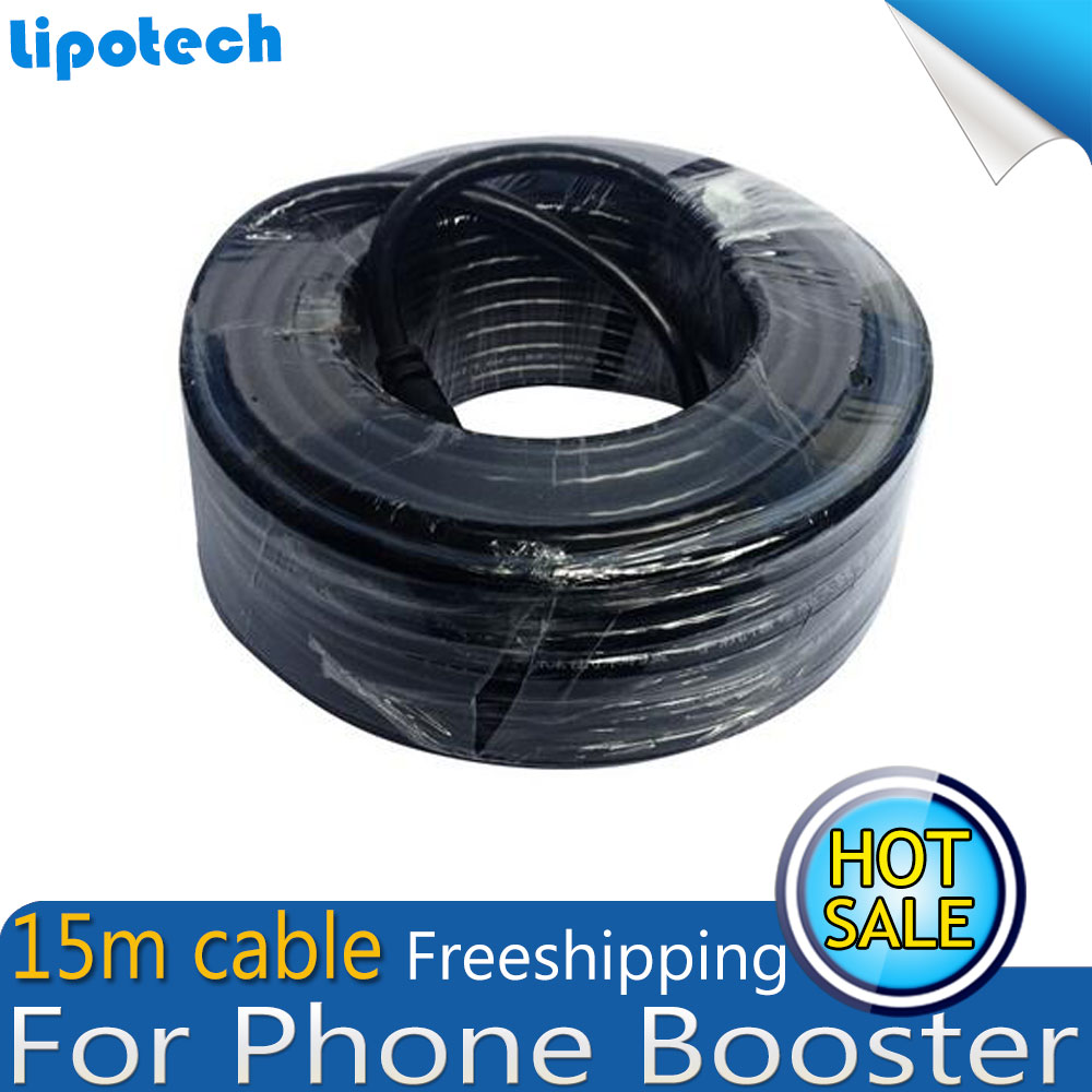 Freeshipping 15m Meters Coaxial Cable N Male To N Male For Mobile Phone Signal Booster Repeater Amplifier