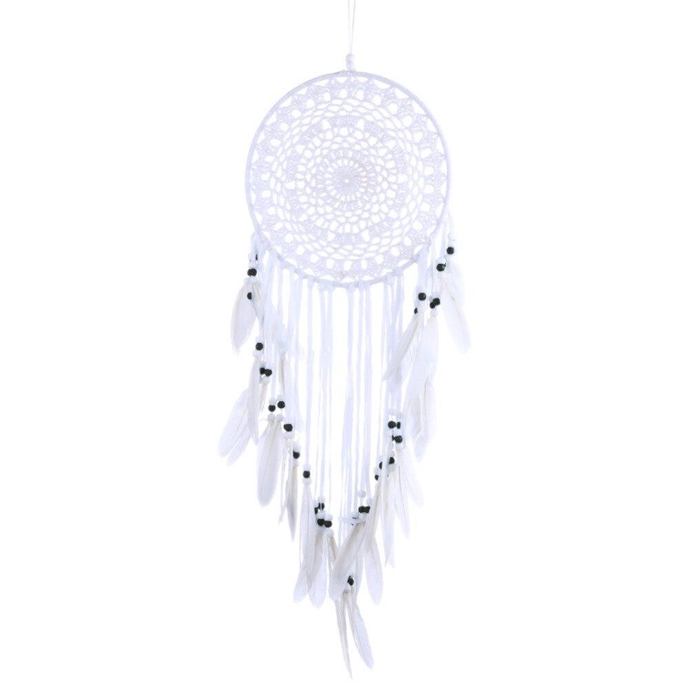 Weiß Muster Türkis Dreamcatcher Handgemachte Windspiele Hängen Anhänger Traum Catcher Hause Wand Kunst Behänge Dekorationen