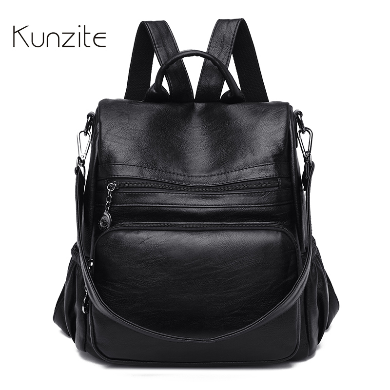 Multifunction Backpack Women Bags Daily Quality Laptop Rucksack Bags Casual Black School Knapsack for Ladies and