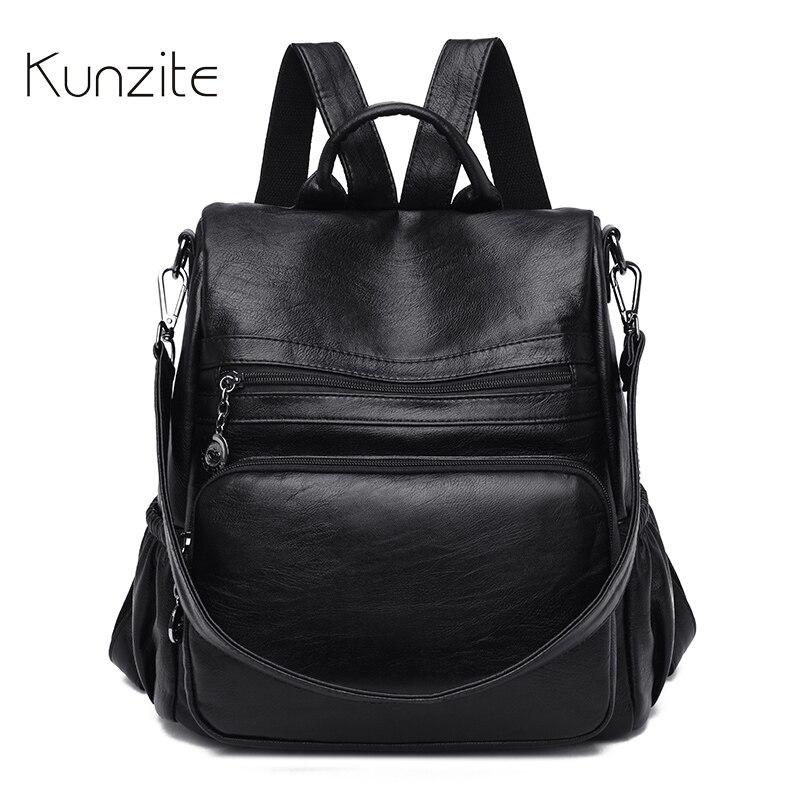 Wielofunkcyjny plecak kobiet torby codzienne jakości plecak na laptopa plecak na co dzień torebki na co dzień czarny szkoła plecak dla kobiet i dziewcząt mochila w Plecaki od Bagaże i torby na  Grupa 1