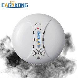 433 МГц беспроводной детектор дыма датчик пожарной сигнализации для Wi-Fi GSM сигнализация для домашней безопасности сада безопасности SM-01, хит ...