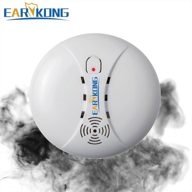 433 МГц Беспроводной детектор дыма пожарной сигнализации Сенсор Wi-Fi GSM сигнализация тревоги для домашние Безопасность сад безопасности SM-01, л...