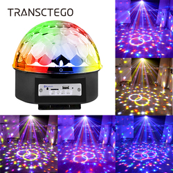 9 Colors Bluetooth Disco Light Speaker MP3 Led Disco Ball Lamp RGB Stage Lamp DJ Projector Laser Music Player Xmas Party Lights