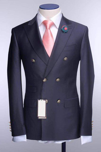 El último Diseño Para Hombre Del Partido de Cena Blazer Trajes de Baile Trajes de Novio Esmoquin Padrinos de Boda (Jacket + Pants + Tie) K: 1293
