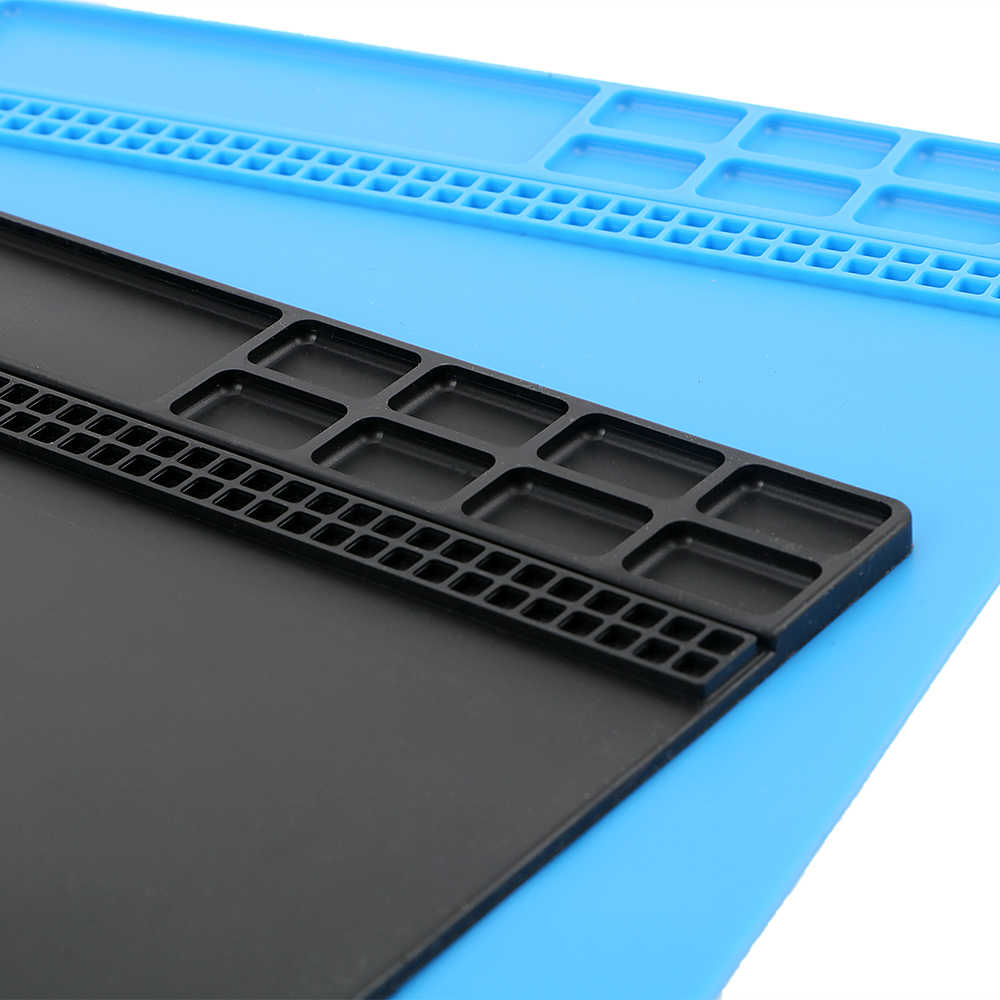 DIYWORK теплоизоляция площадку паяльная Ремонт обслуживания станции на платформе антистатические винт хранения коврик силиконовый 34,5x24,5 см