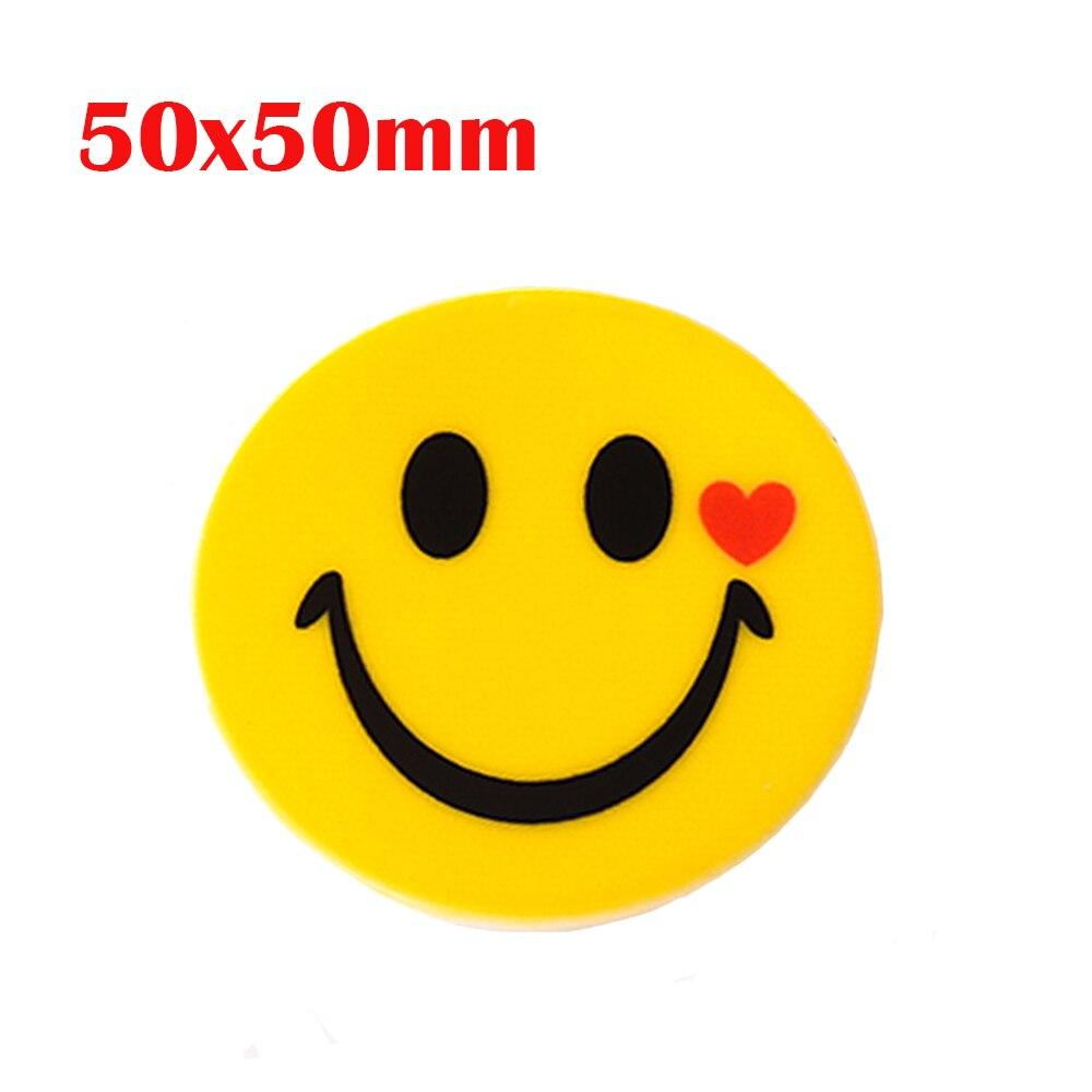 5Pcs 50mm Red Heart Smile Emoji Flatback Cabochons Planar Resin Craft DIY Embellishment For Children Kids Jewelry