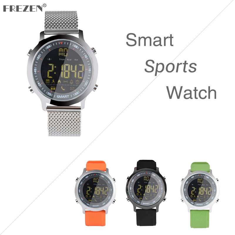 FREZEN <font><b>Smart</b></font> Sports <font><b>Watch</b></font> <font><b>EX18</b></font> Waterproof Bluetooth Remote Control Camera Long Standby Step Counter Alarm Clock Smartwatch image