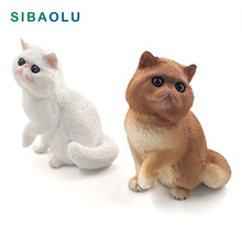 Artificial Persian cat Simulation Animal model figurine home decor miniature fairy garden decoration accessories modern Pvc toy