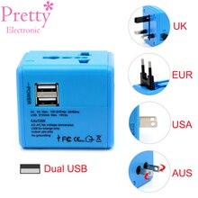 ФОТО new electric plug adaptor universal uk us au eu ac power socket plug travel charger adapter converter dual usb fast charging
