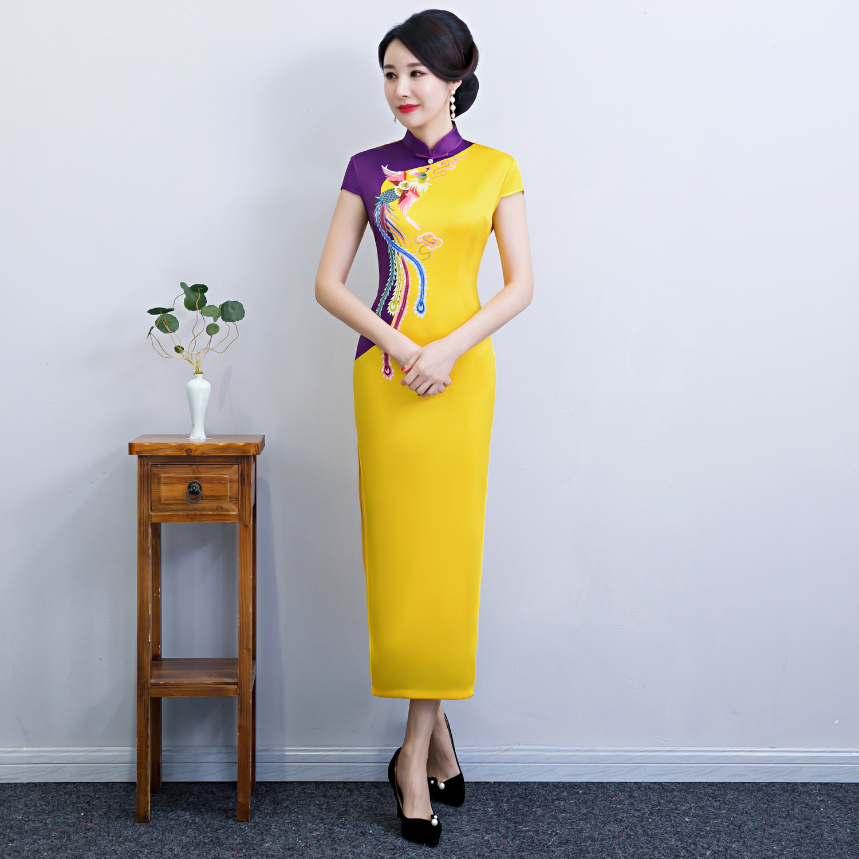 befe3666b97 2019-Longue-Cheongsam-Vintage-style-Chinois-Mandarin-Col-Robe-Femmes-D -t-Rayonne-Qipao-Mince-robe.jpg
