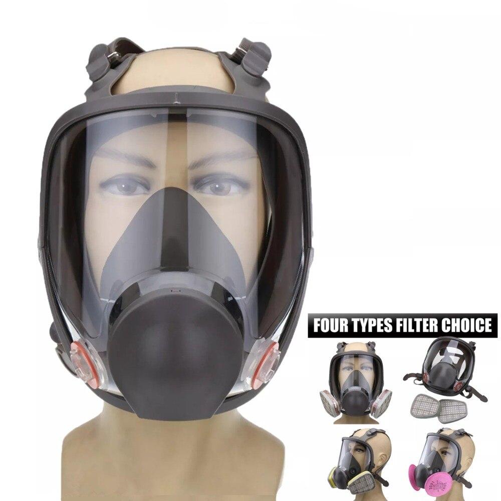 3 en 1 costume peinture pulvérisation similaire pour Silicone visage complet masque respiratoire réutilisable 6800 gaz masque de protection